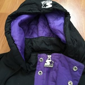 2f1784813 STARTER Jackets   Coats - Vtg 90s Starter Minnesota Viking Half Zip Jacket